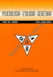 Psychologia etologia genetyka Tom 19 2009